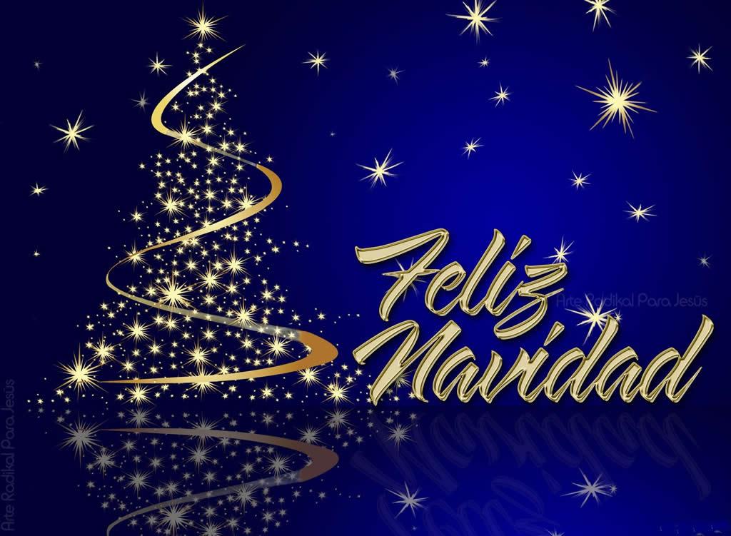 Imagen Fondo Navideño para felicitar un feliz Navidad a los ...