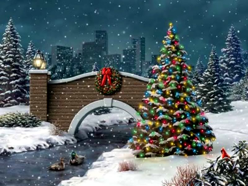 Imagen Árbol navideño con pajsage
