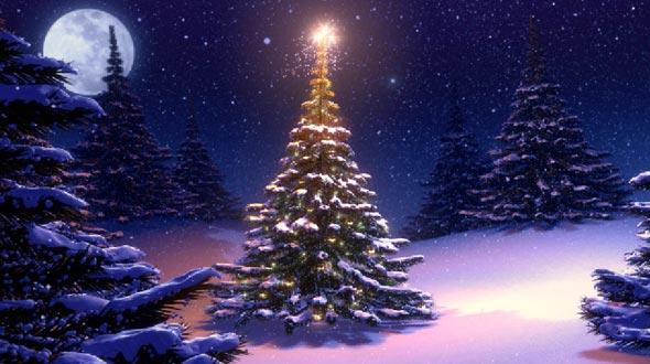 Imagenes navidad bonitas rbol de navidad - Paisaje nevado navidad ...