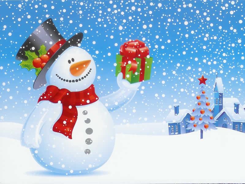 Fotos Navideñas muñeco de nieve
