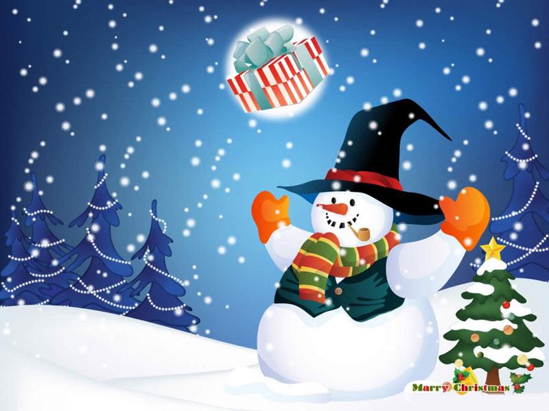 Imagen Muñeco de nieve navideño