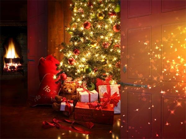 Imagenes Navidad Bonitas: árbol de Navidad con luces
