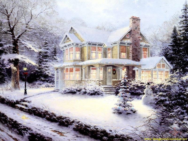 Im gen paisaje nevado de navidad las mejores im genes - Paisaje nevado navidad ...