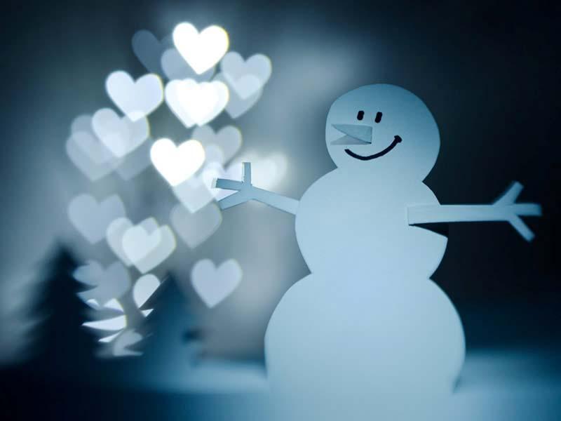 Imágenes De Navidad: Muñeco De Nieve