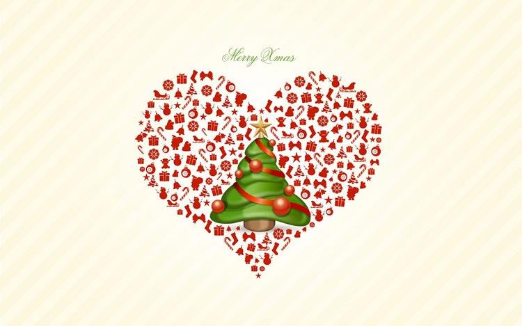 Imágenes Navideñas: Árbol de Navidad con corazón
