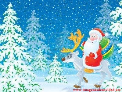 Imágenes Papá Noel: Papá Noel con reno