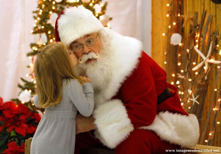 Imágenes Papá Noel: Papá Noel con niña